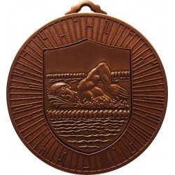 Bronze 60mm Male Swimming Medal
