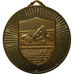 Gold 60mm Male Swimming Medal