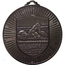 Silver 60mm Male Swimming Medal