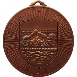 Bronze 60mm Female Swimming Medal