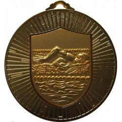 Gold 60mm Female Swimming Medal