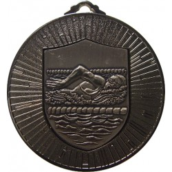 Silver 60mm Female Swimming Medal