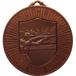 Bronze 60mm Clay Pigeon Shooting Medal