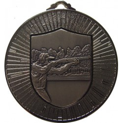 Silver 60mm Clay Pigeon Shooting Medal