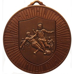 Bronze 60mm Male Football Medal