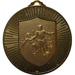 Gold 60mm Male Football Medal