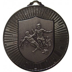 Silver 60mm Male Football Medal