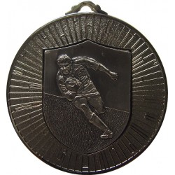 Silver 60mm Rugby Medal