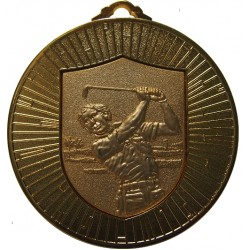 Gold 60mm Male Golf Medal