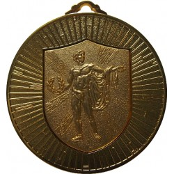 Gold 60mm Male Victory Medal