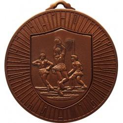 Bronze 60mm Netball Medal