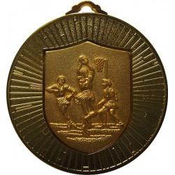 Gold 60mm Netball Medal
