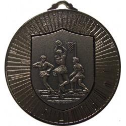 Silver 60mm Netball Medal