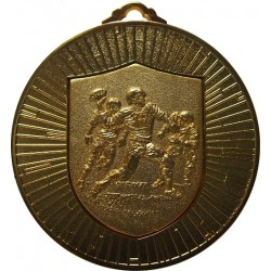 Gold 60mm American Football Medal