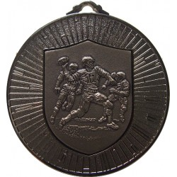 Silver 60mm American Football Medal