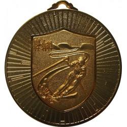 Gold 60mm Ski Alpine Medal