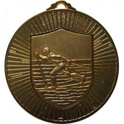 Gold 60mm Ski Nordic Medal