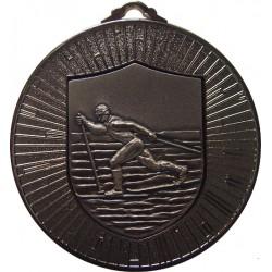 Silver 60mm Ski Nordic Medal