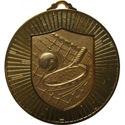 Gold 60mm Tennis Medal