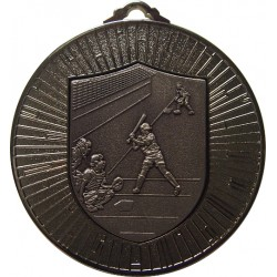 Silver 60mm Softball Medal