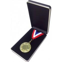 Blue Leatherette Medal Box (50mm)
