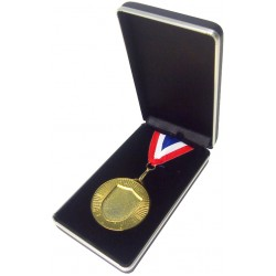Blue Leatherette Medal Box (60mm)