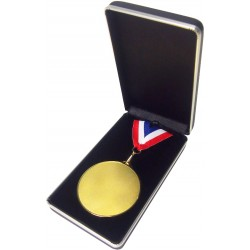 Blue Leatherette Medal Box (70mm)