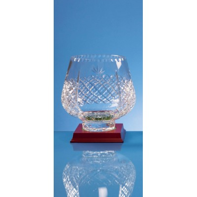 Crystal Paneled Tulip Bowl