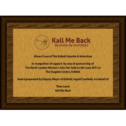 Gold Digital Plaque Small