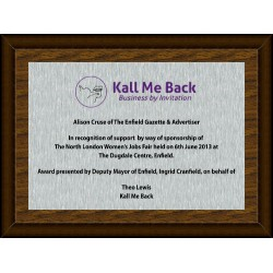 Silver Digital Plaque Small