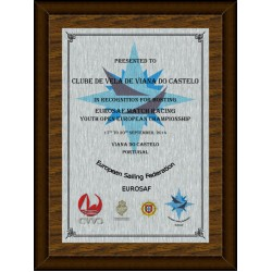 Silver Digital Plaque XL