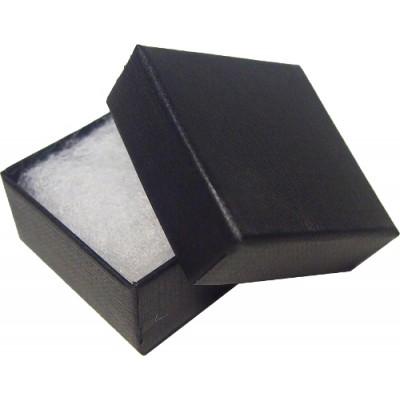 Black 40mm Covered Badge Box