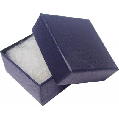 Blue 50mm Covered Badge Box