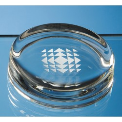 Glass Round Paperweight Small