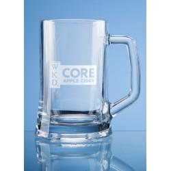 Glass Straight Line Tankard One Pint