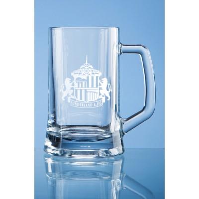 Glass Straight Line Tankard Half Pint