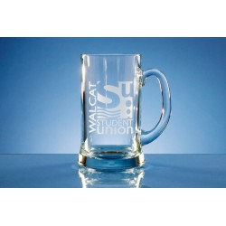 Glass Straight Line Tankard Two Pint