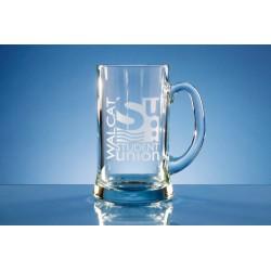 Glass Straight Line Tankard Two Pint