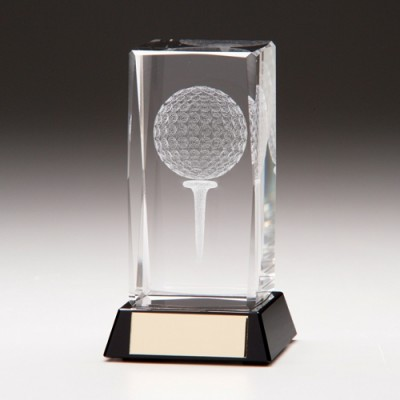 Golf Ball and Tee Laser Block Small