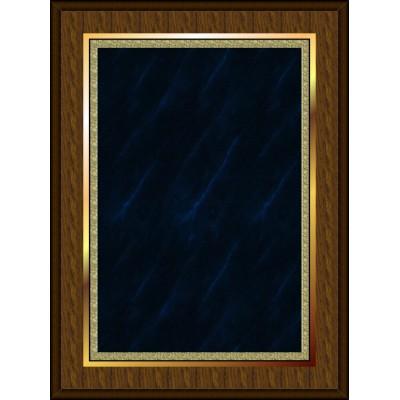 Marble Mist Coated Plaque Blue Medium