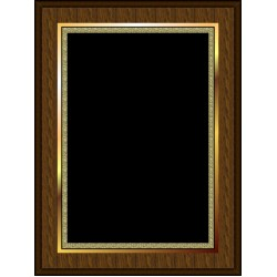 Marble Mist Coated Plaque Black Large