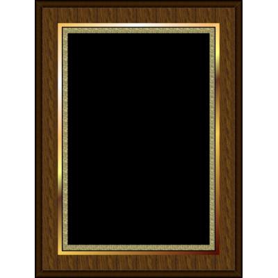 Marble Mist Coated Plaque Black Large