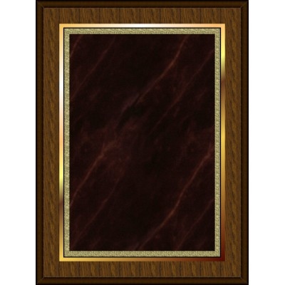 Marble Mist Coated Plaque Red Medium