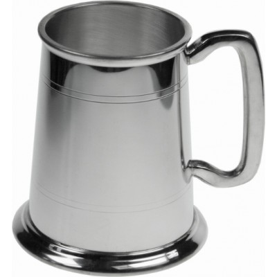 Straight Lined Pewter Tankard