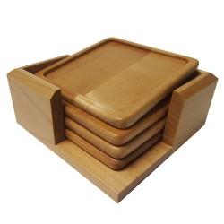 Maple Wood Coaster Set