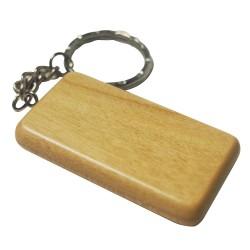 Rectangular Maple Wood Key Chain
