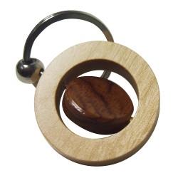 Spinning Maple Wood Key Ring