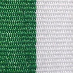 Green and White Ribbon