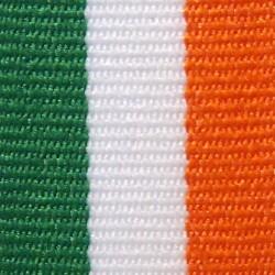 Green, White and Orange Ribbon