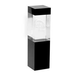 Optical Crystal Rectangle Award 22cm